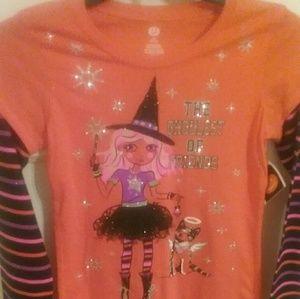 Halloween long sleeve t-shirt, 10/12,  girls